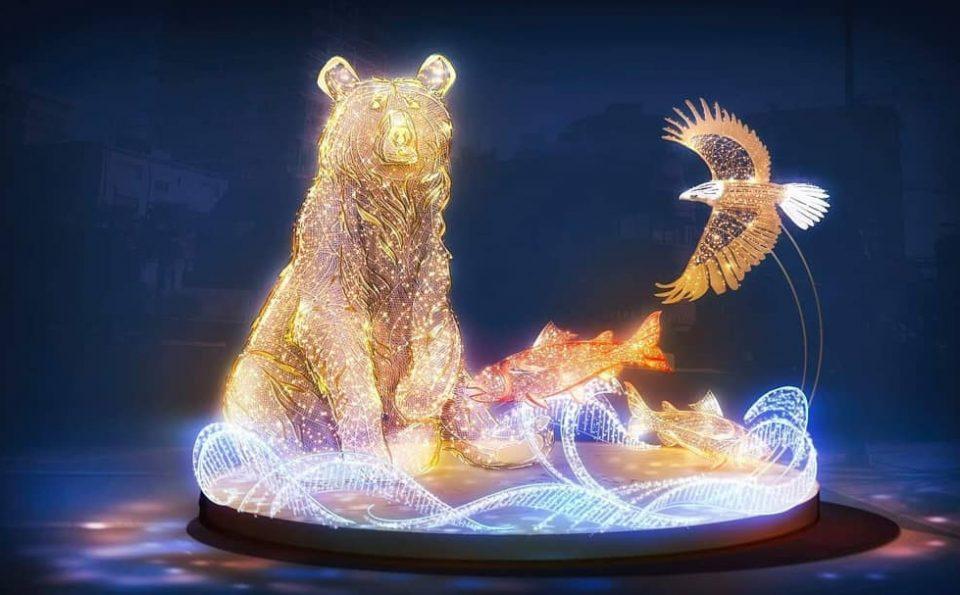 Kelap-Kelip Lampu untuk Beruang Grizzly